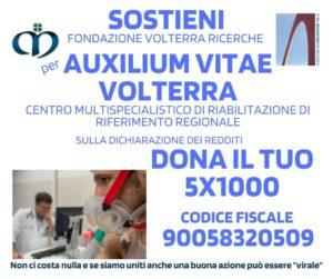 Sostieni Auxilium Vitae Volterra con il tuo 5x1000