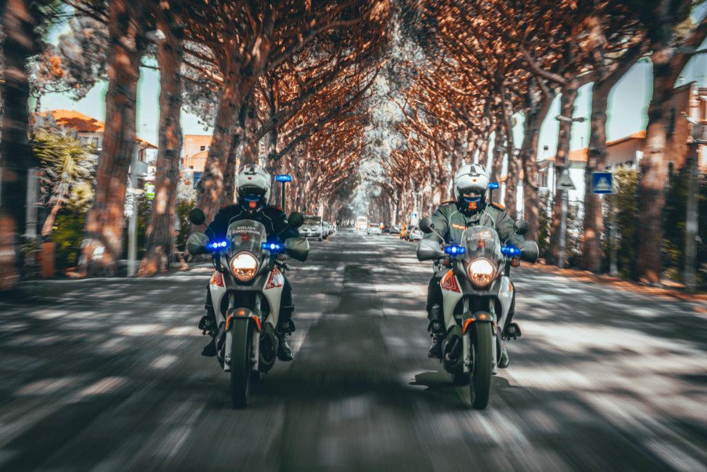 Motociclisti Polizia Municipale