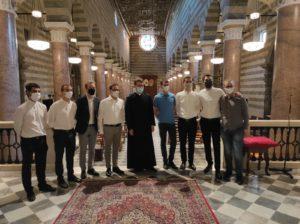 Don Lorenzo Mancini con i seminaristi