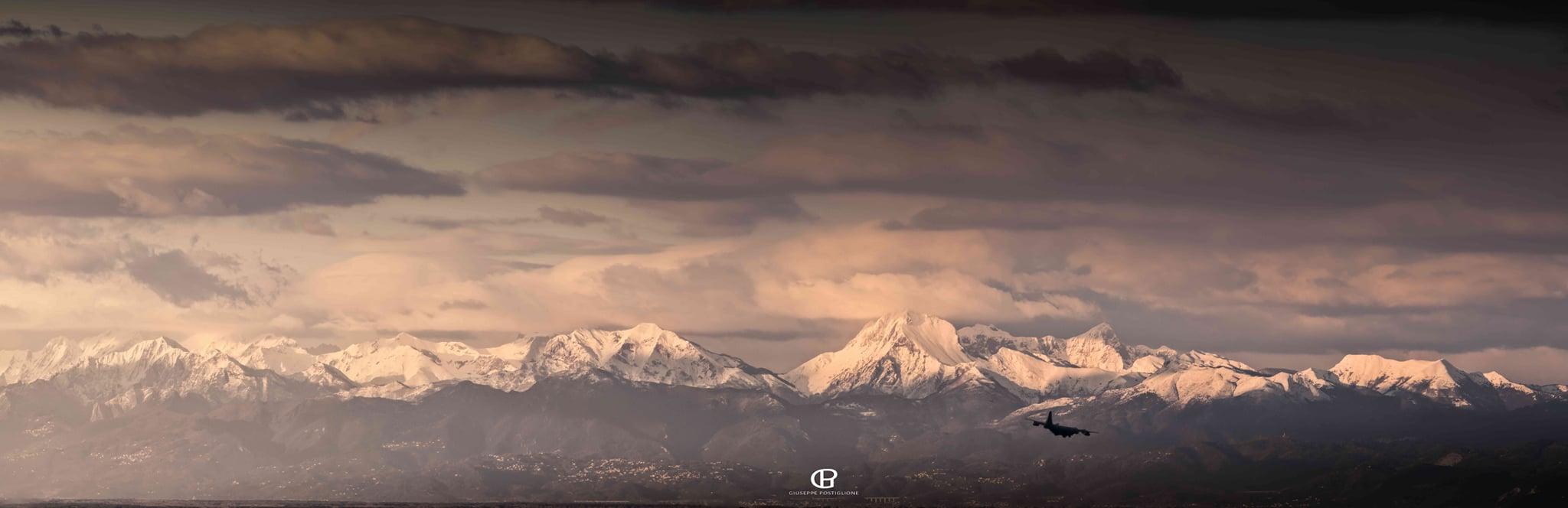 Alpi Apuane viste da Montenero