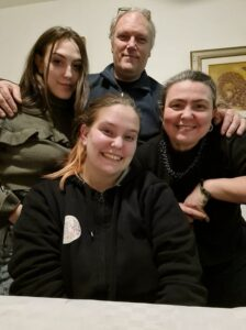 Michele Poletti con la Famiglia